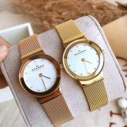 Đồng hồ cặp đôi Skagen 358SGGD và 358SRRD
