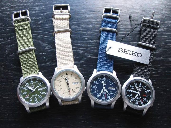 Đồng hồ nam Seiko 5 quân đội các mã SNK805 & SNK807 & SNK803 & SNK809